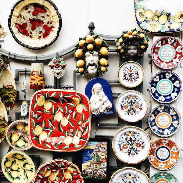 Positano Italy Shopping Ceramics